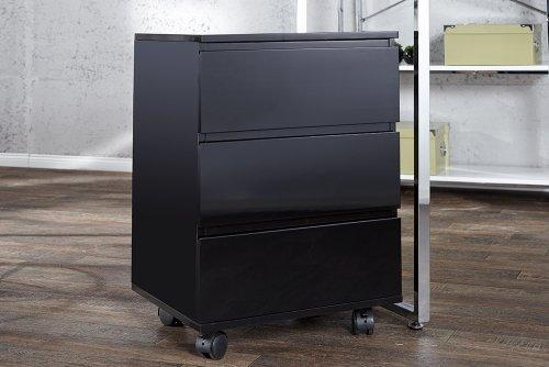 Moderner-Rollcontainer-BIG-DEAL-hochglanz-schwarz-3-Schubladen