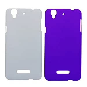 Winsome Deal 2 Pieces of Exclusive Quality Hard Back Cover Case For Micromax Yureka