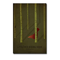 Little Red Riding Hood by Christian Jackson Premium Gallery-Wrapped Canvas Giclee Art (Ready to Hang)