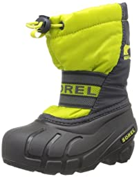 Sorel Cub Winter Boot (Toddler/Little Kid),Chartreuse/Coal,10 M US Toddler