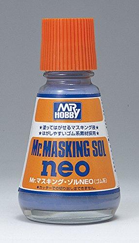 【 Mr.マスキングゾル NEO 】 25ml 仕上げ材 液体マスキング材 ( ゴム系 ) #CMM132/ はがすのが楽なマスキング材です  Mr.ホビー
