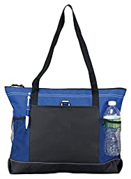 Bodek And Rhodes 80279330 1100 Gemline Select Zippered Tote Royal - One