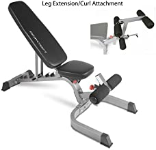 BodyCraft F602 FlatInclineDecline Bench Complete System with Arm Curl and Leg Extension Curl Attachm