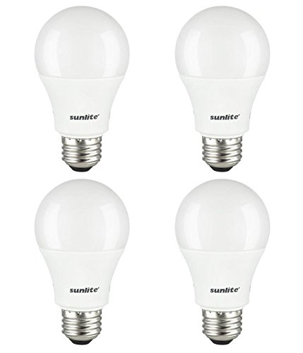 Sunlite LED A19 - 60 Watt Equivalent Daylight  Light Bulb - 4 Pack
