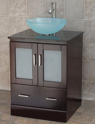 bathroom vanity solid wood cabinet stone top vessel sink mo2 is more