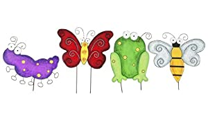 Gift Craft 27-Inch Metal Insect Design Garden Statues, Large (Discontinued by Manufacturer)