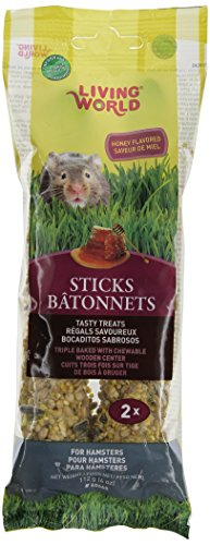 Living World Hamster Honey Treat Sticks, 4-Ounce 41x2QFNhZpL