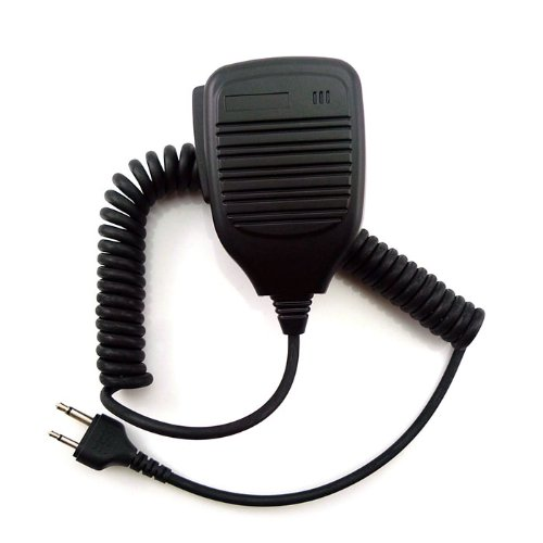 Shoulder Remote Speaker Mic Microphone For 2 Pin Icom Cobra Maxon Ritron Vertex Walkie Talkie Radio Ic-F3, Ic-F3S, Ic-F3G, Ic-F3Gs, Ic-F3Gt, Ic-F4, Ic-F4S, Ic-F4Tr, Ic-F4G, Ic-F4Gs, Ic-F4Gt Etc.