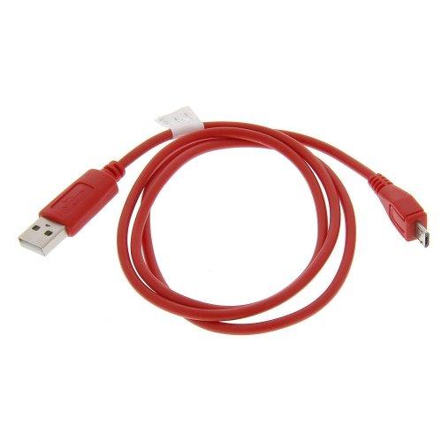 USB Datenkabel Daten Kabel mit Ladefunktion micro USB rot 0,95m für Samsung A847 Rugby II A897 Mythic A927 Flight II i917 Focus T359 Smiley :) T479 Gravity 3 T669 Gravity Touch T939 i350 M220 M240 M320 M330 M350 Seek M540 Rant M550b Exclaim M560 Reclaim M570 Restore M630 Highnote M850 M900 Instinct Q
