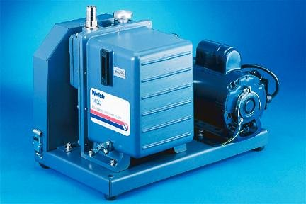 Welch DuoSeal High-Vacuum Pumps; Model 1402; Two Stage; 160 L/min.; 19-1/4 x 12-1/4 x 15-5/8 in by Welch Vacuum Technology