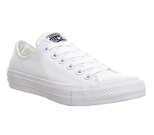 Converse Unisex Chuck Taylor II Ox White/White Basketball Shoe 9 Men US / 11 Women US