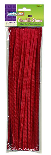 "Creativity Street Stetems/Pipe Cleaners 12"" X 4mm 100-Piece, Red"