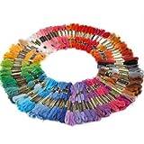 100 Docken Sticktwist Stickgarn 8m 6-fädig Multicolor farblich bunt Basteln von surepromise