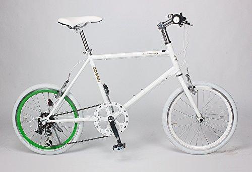 21Technology ミニベロ 20インチ クロスバイク CL20 シマノ6段変速 (ホワイト・グリーン)