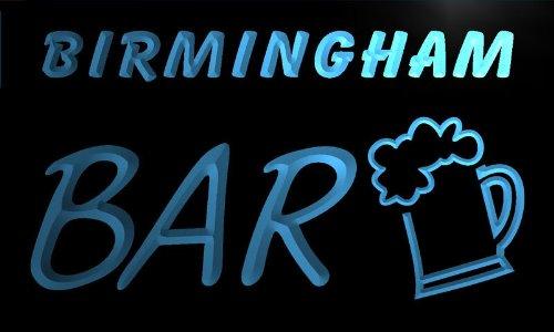 Pv2147-B Birmingham Bar Beer Mug Glass Pub Neon Light Sign