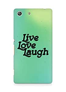 Amez Live Love Laugh Back Cover For Sony Xperia M5