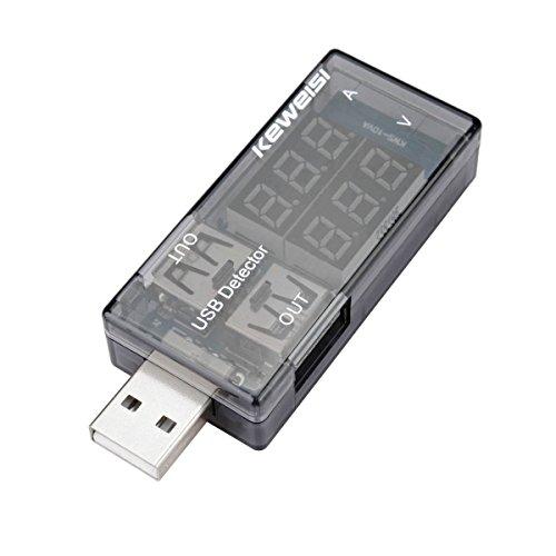 ELEGIANT USB Testeur Détecteur 5A/9V Double Sortie de Charge Affichage Ampèremètre Voltmètre Jauges Detector Current Voltage Tester LED Numérique