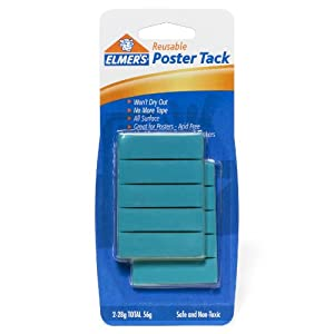 Elmer's Poster Tack Reusable Adhesive, 2 Ounces, (E1531)