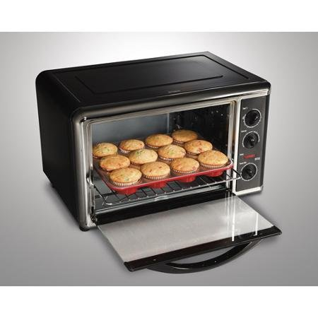 Hamilton Beach Large Capacity Counter Top Oven, Chrome and Portable and fits on your counter top (Portable Oven For Baking compare prices)