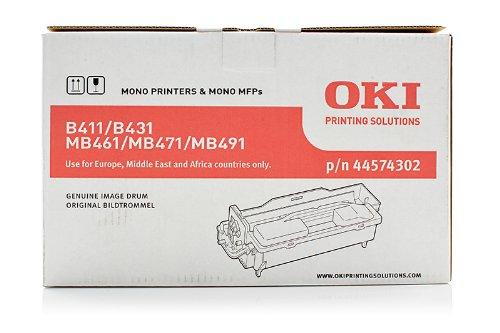 Originale OKI 44574302 tamburo di stampa (nero, ca. 25.000 Pagine) per B 411, 412, 431, 432, 512; MB 461, 471, 472, 491, 492, 562