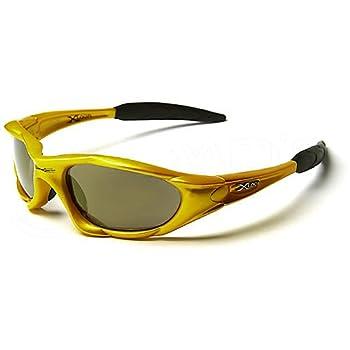 X-Loop Lunettes de Soleil - Sport - Cyclisme - Ski - Conduite - Moto - Plage / Mod. 1002 Jaune Fumés / Taille Unique Adulte / Protection 100% UV400