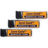 June Gold Lead Refills, 330 Pieces, HB #2 0.5 mm, Fine Thickness, Break Resistant Lead with Convenient Dispensers