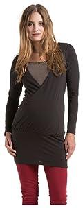 ESPRIT - Jersey premamá regular fit con cuello redondo de manga larga para mujer