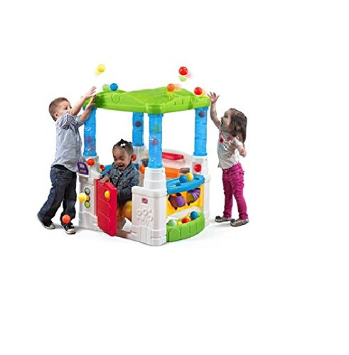 Children-Toddler-Indoor-Outdoor-Playhouse-Activity-Center-Loaded-With-Fun-Learning-Activities-Balls-and-More-Bright-Colors-With-Working-Dutch-Door-Hours-Of-Fun-Learning-and-Developing-Motor-Skills