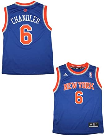 NBA New York Knicks Chandler #6 Youth Pro Quality Athletic Jersey Top by NBA