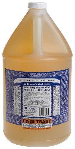 Dr. Bronner - Pure-Castile Soap Peppermint, 1 Gallon liquid