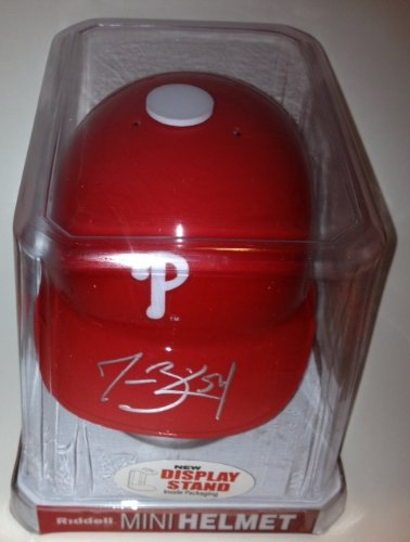 Jesse Biddle Signed Philadelphia Phillies Mini Batting Helmet From Signing W/coa at Amazon.com