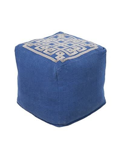 Surya Grammercy Pouf, Blue