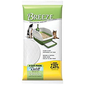 "Breeze Tidy Cat Litter Pads 16.9""x11.4""(1 pack of 4 pads)"