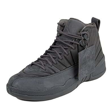 Mens Public School x Air Jordan 12 Retro Dark Grey/Black Suede: Shoes