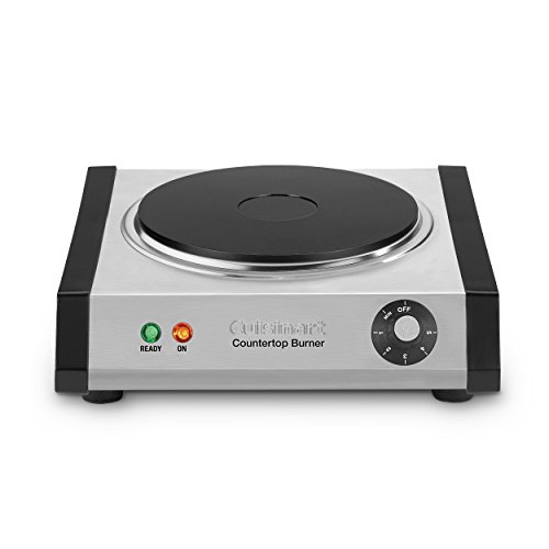Cuisinart CB-30 Cast-Iron Single Burner, Stainless Steel (Electric Cast Iron compare prices)