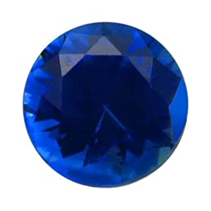 Round 3 mm Blue Sapphire Faceted Stone, AAA-Grade Priced Individually Jewelry Making Findings