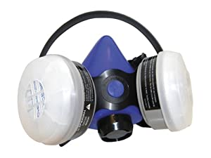 SAS Safety 2671-50 Professional Halfmask Respirator with Organic Vapor and N99/R95 Particulate, Blue, Medium by SAS Safety Corp.