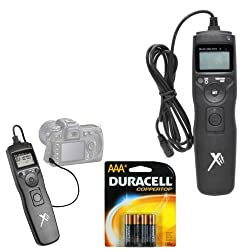 PHOTO4LESS XTTRCUNV Universal Shutter Release Timer Remote Control + 4 AAA battery For Canon Digital Cameras 70D 60D 5D 5D Mark III 6D 7D 20D 30D 50D Rebel T1i T2i T3i T3 T4i T5i G15 G16