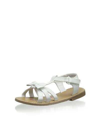 Laura Ashley Girl's Bow Sandal  [White Patent]