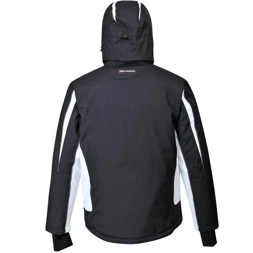 COX SWAIN Titanium Herren Ski-/Snowboard Funktionsjacke FINLEY RECCO 15.000mm, Farbe: Black/White - black zipper, Größe: XL -