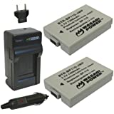 Wasabi Power Battery (2-Pack) and Charger for Canon BP-110, CG-110 and Canon VIXIA HF R20, HF R21, HF R200