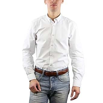 CR7 Cristiano Ronaldo - OXFORD Classic Fit Shirt white at Amazon Men