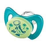 Miss Denti by nip 38183-51 Schnuller, Dentalschnuller Doppelpack, Dino und Delphin mit Backenzähnchen, Große 3, blau / türkis