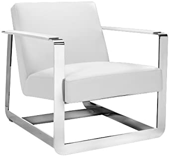Clevelander White Bonded Leather Armchair