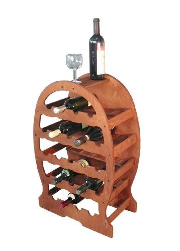 Cantinetta portabottiglie vino a BOTTE in legno 23posti