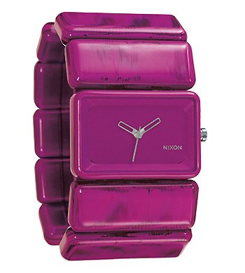 Nixon A726-1645 Ladies Vega Shocking Pink Marble Watch