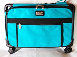 Large Turquoise Mascot Tutto Sewing Machine On Wheels Carrier Case by Mascot