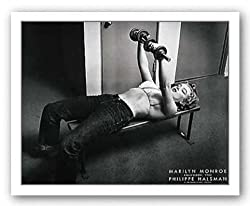 Marilyn Lifting Weights by Philippe Halsman 22&quot;x28&quot; Art Print Poster