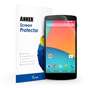 Anker® High Definition (HD) Screen Protector for Google Nexus 5 [3 Pack] Xtreme Scratch Defender Ultra Clear High-Response Premium with Lifetime Warranty