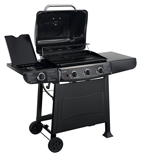 Char-Broil 36,000 BTU 3-Burner Gas Grill, 522 Square Inch with Side Burner